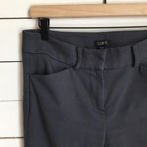 Ann Taylor Loft Grey Ankle Pants Sz4